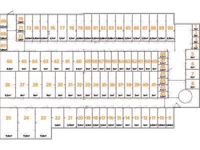 Lagerrum / opbevaring til 439 DKK om måneden
